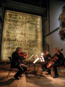 Kulturnacht, Zittau. Museum Kirche zum Heiligen Kreuz.Lyrik und Musik Khalil Gibran: Der Prophet Musikalisch umrahmt vom Streichquartett des Collegium musicum Zittau.