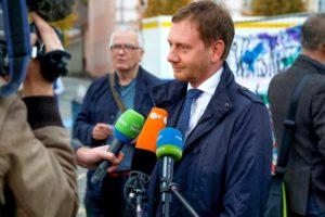 Eröffnung des Friedensfestes . Michael Kretschmer, Ministerpräsident, Freistaat Sachsen.